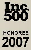 Inc. 500 Honoree 2007